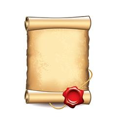 scroll wax seal vector image