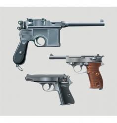 pistols vector image