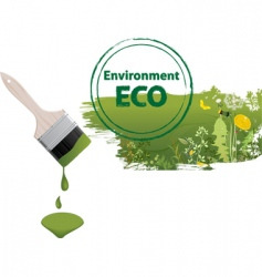 eco paintbrush vector image