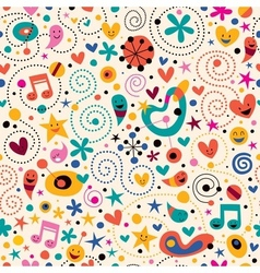 Fun cartoon pattern 12 vector