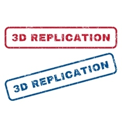 3d replication rubber stamps vector