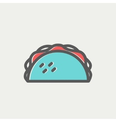 Taco thin line icon vector