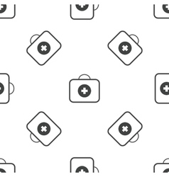 First aid kit pattern vector