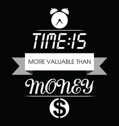 Time is money typo vector