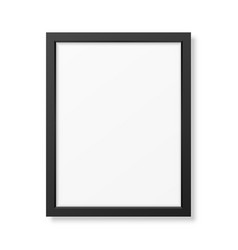 Realistic black frame a4 vector
