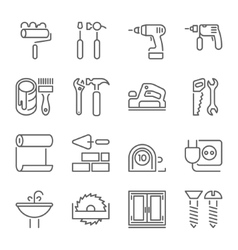Outline web icons set vector image