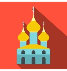 Russian orthodox church flat icon vector