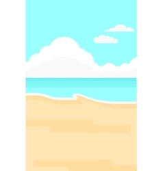 Background of sand beach with blue sea vector