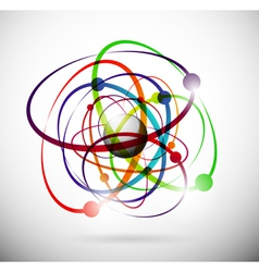 Abstract atom background vector