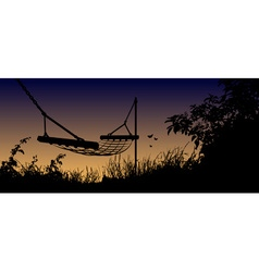 Hammock in the shadows vector