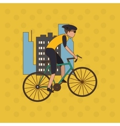 Flat of bike lifesyle design edita vector