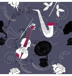 Seamless pattern with music vector