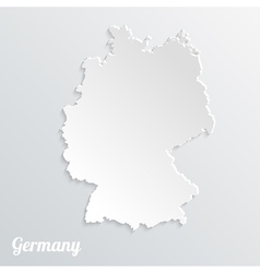 Abstract icon map of Germany on a gray background vector image