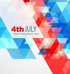 Abstract style 4th of july vector