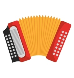 Accordion music instrument Colorful icon design vector image vector image