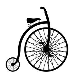bike old retro vintage icon stock vector image