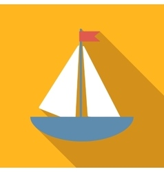 Boat colored flat icon vector image vector image