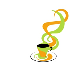 coffee green and orange vector image