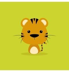 Cute Cartoon Wild tiger vector image
