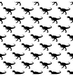 Dinosaurs jurassic pattern seamless vector