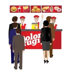 fastfood banner vector image vector image