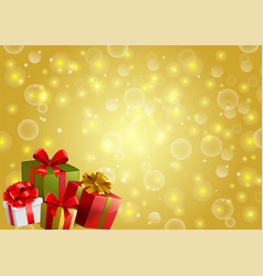 Festive backgroung with gifts vector