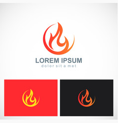 fire icon flame logo vector image