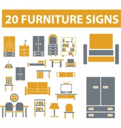 furniture signs vector image vector image