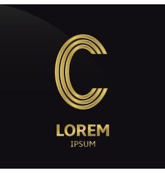 Golden letter symbol vector
