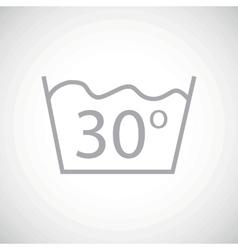 Grey 30 degrees wash icon vector