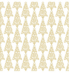 Holiday seamless pattern with golden hand vector