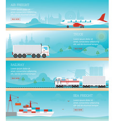 Infographic of industrial transport vector
