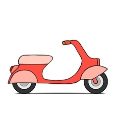 isolated Classic moped vector image vector image