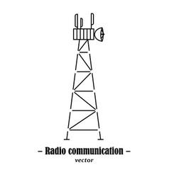 logotype for radio communication vector image vector image
