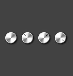 Metal knob vector