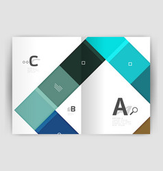 Modern geometrical a4 flyer brochure vector