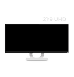Monitor mockup on white realistic display vector