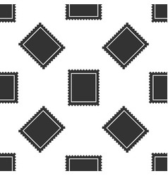 Postal stamp seamless pattern on white background vector