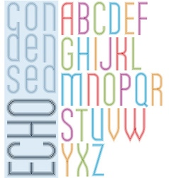 Poster echo light striped font bright transparent vector