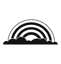 Rainbow black simple icon vector