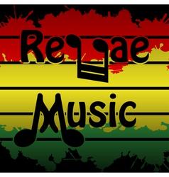 Reggae music vector