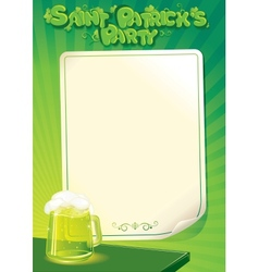 Saint Patricks Day Party Poster Template vector image vector image