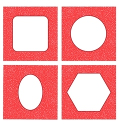 Set of Different Red Hearts Frames vector image vector image