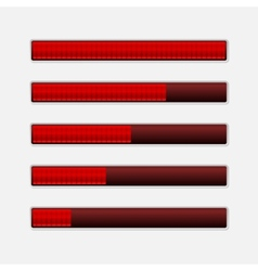 Set of Progress Bars Loading Bars vector image vector image