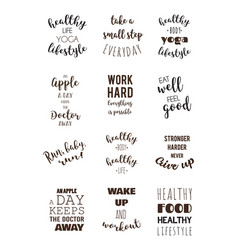 sport and healthy lifestyle motivation quotes vector image