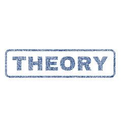 Theory textile stamp vector