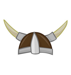 Viking helmet isolated vector