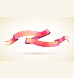 watercolor ribbon vector image