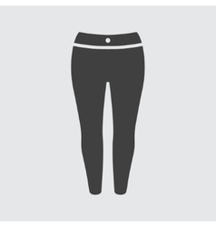 Woman trousers icon vector