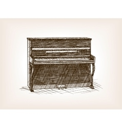 Piano hand drawn sketch style vector